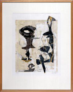 o.T.  | 1983 - 89,5 x 70,5 cm | Collagen | Monotypie auf Bütten