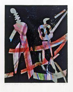 Klänge aus dem Orchestergraben | 1995 | 51 x 41 cm | Ölkreide