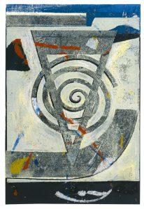 Im Gegeneinander vereint | 1995 | 80 x 50 cm | Oelkreide