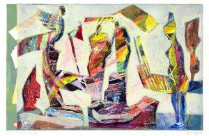 Schwindel I | 2004 | 50 x 80 cm | Oelkreide | Monotypie auf Bütten